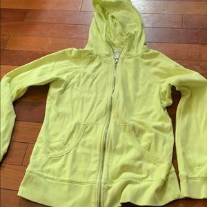 Victoria Secret hoodie size large yellow